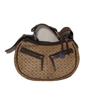 Dooney & Bourke Handbag Beige DB Monogram Logo